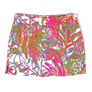 Lilly Pulitzer Marigold Skort Scuba to Cuba White